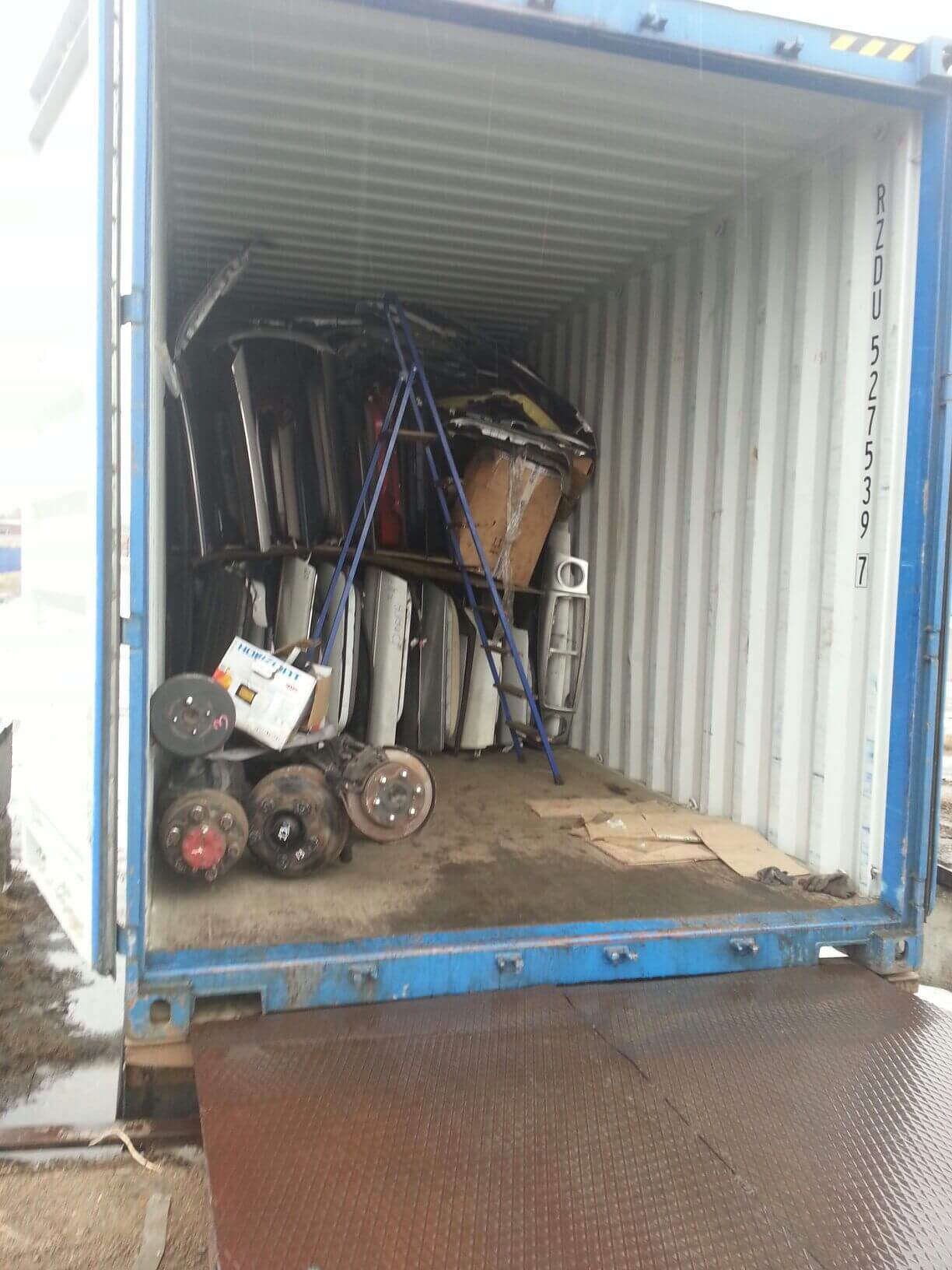 Перевозка авто зап.частей в 20 тн. контейнере