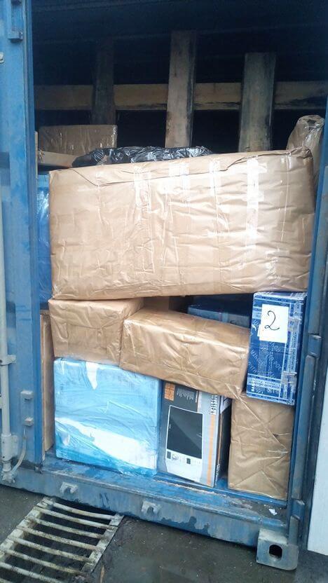 Перевозка домашних вещей в 20 тн. контейнере
