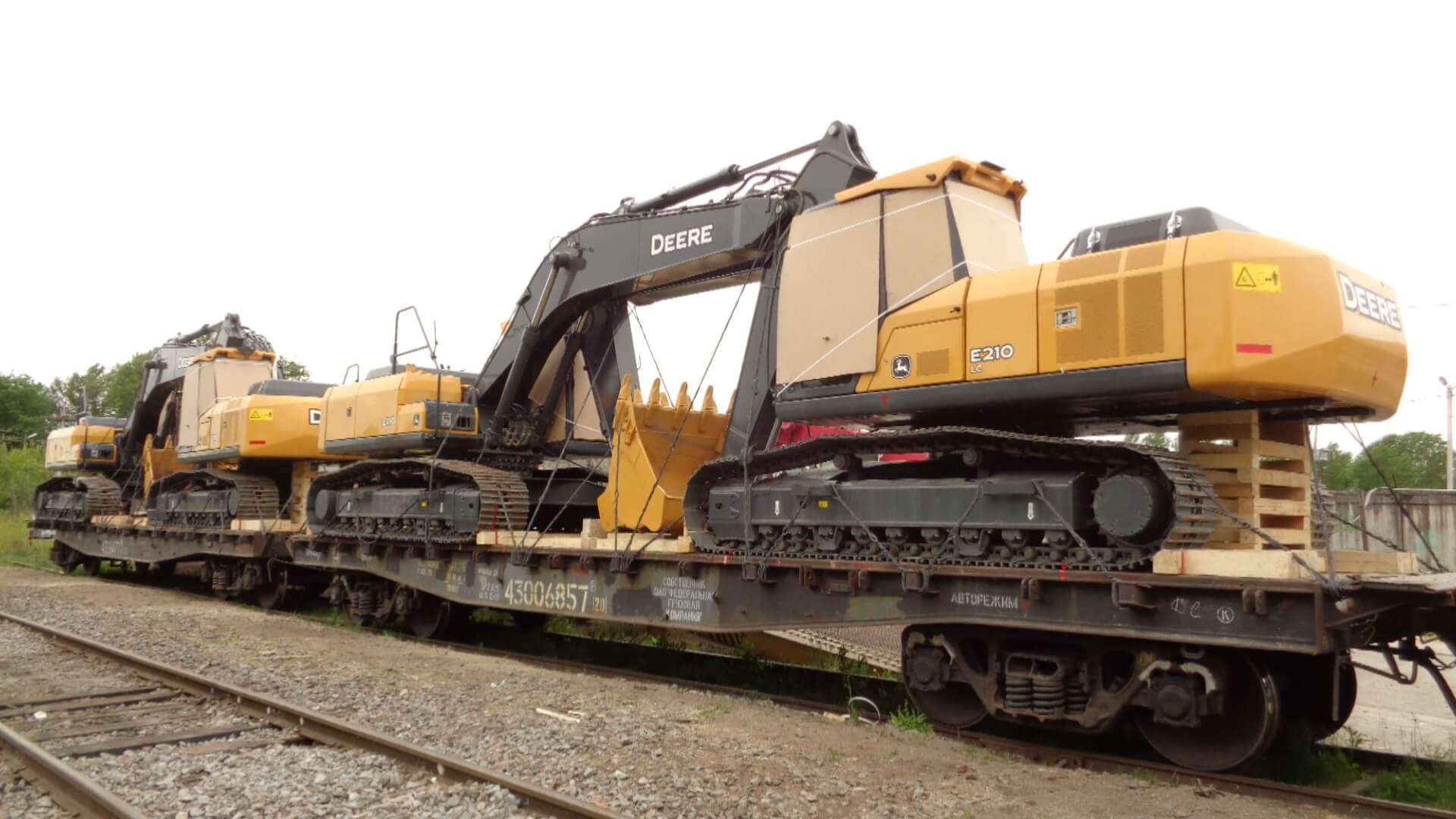 Железнодорожные перевозки экскаватора из Владивостока
