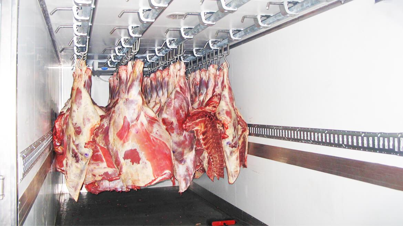 Перевозка мяса в рефрижераторах